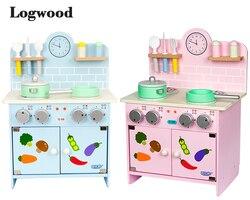Big Size Houten Fornuis Kind Grappige Classic Pretend Play keuken speelgoed imiteren Keuken Sets KOKEN LEUK spel speelgoed Voor Kinderen