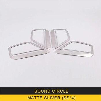 Für Audi A6 C8 2019 Auto Styling Lautsprecher Sound Abdeckung Trim Rahmen Aufkleber Chrome Interior Zubehör