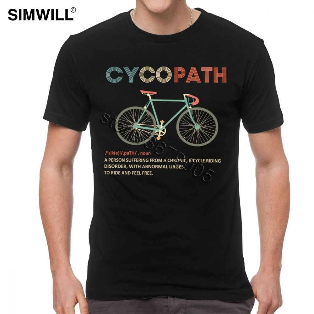 Vintage Tshirt Men Cycopath Funny Cycling For Cyclists And Bikers T-Shirt Streetwear MTB Tees Shirt Short Sleeved Cotton T Shirt