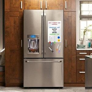Image 5 - Manyetik beyaz tahta buzdolabı çıkartmalar duvar çıkartmaları çocuklar çizim kurulu kuru silme beyaz tahta mesaj panosu A3 + A5 seti paketi