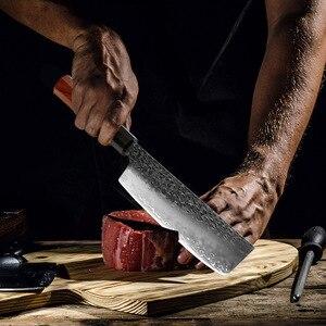 Image 5 - Xituoキッチンシェフナイフ3層鋼手作り鍛造シャープ包丁kiritsuke骨抜き三徳果物ナイフ調理ツール