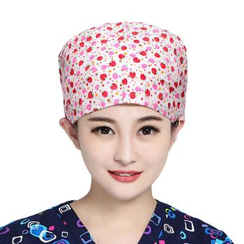 Peeling czapki bawełniane drukuj medyczne chirurgiczne kapelusze szpital lekarz kapelusze bawełniane pielęgniarstwo kapelusze robocze mundur medyczny dla kobiet mężczyzn tanie i dobre opinie NoEnName_Null COTTON WOMEN UC0733 Akcesoria Suknem
