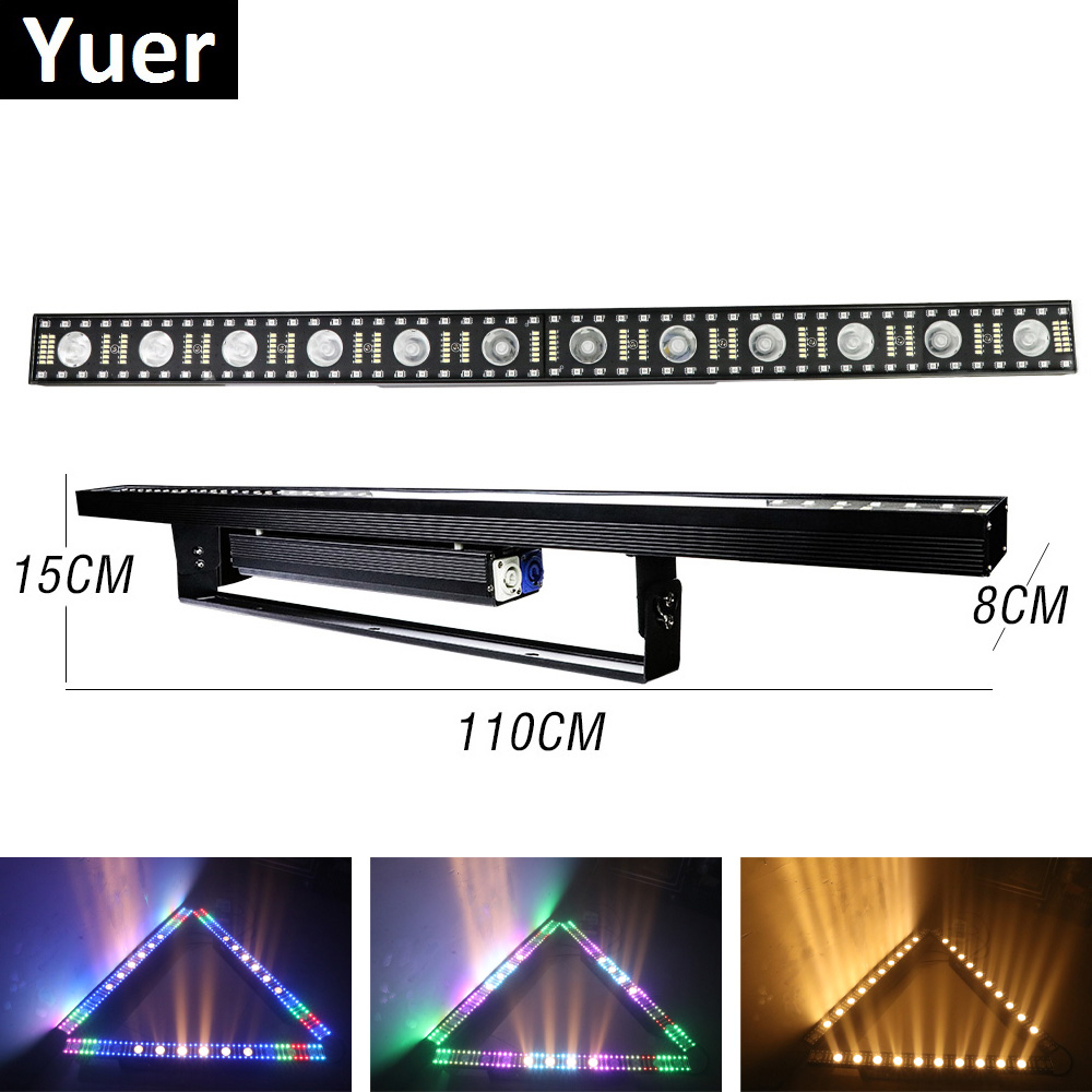 Beam Wash Strobe 3IN1 Light 12X5W LED Wall Wash Light 5/14/75 Channels DMX512 RGBW LED Bar Wash Stage Light Music Dj Party Light