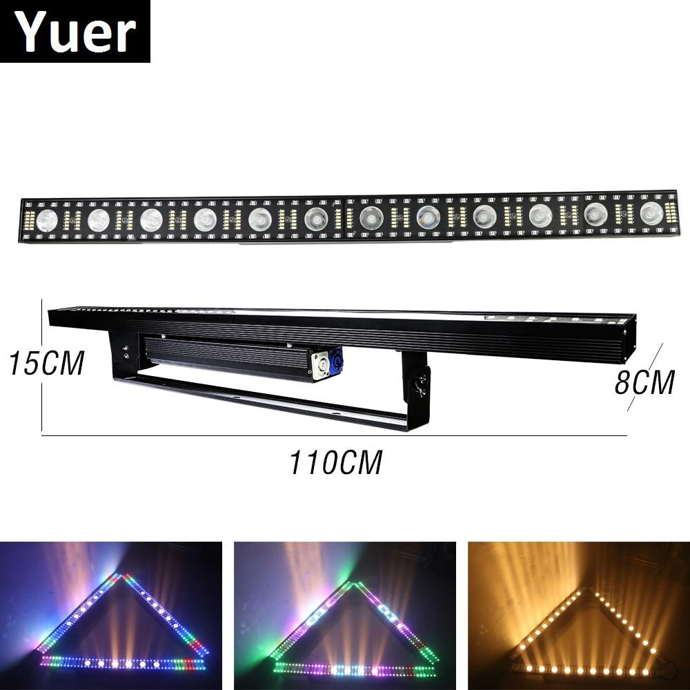Beam Wash Strobe 3IN1 Light 12X5W LED Wall Wash Light 5/14/75 Channels DMX512 RGBW LED Bar Wash Stage Light Music Dj Party Light