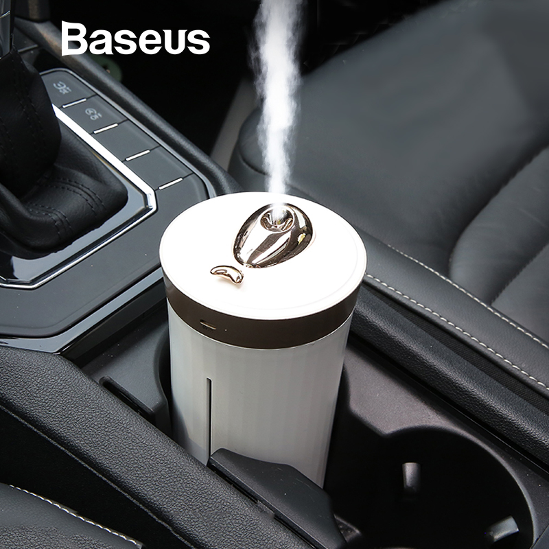 Baseus 420 ML Ultrasonic Air Humidifier Aroma Essential For Home Car Air Humidifier Diffuser USB Mist Maker With LED Night Lamp