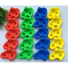 15 قطعة 12 سنتيمتر كبيرة الحجم البلاستيك الأطفال أطفال روك تسلق الخشب جدار الأحجار قدم اليد يحمل قبضة أطقم دون المسمار لون عشوائي