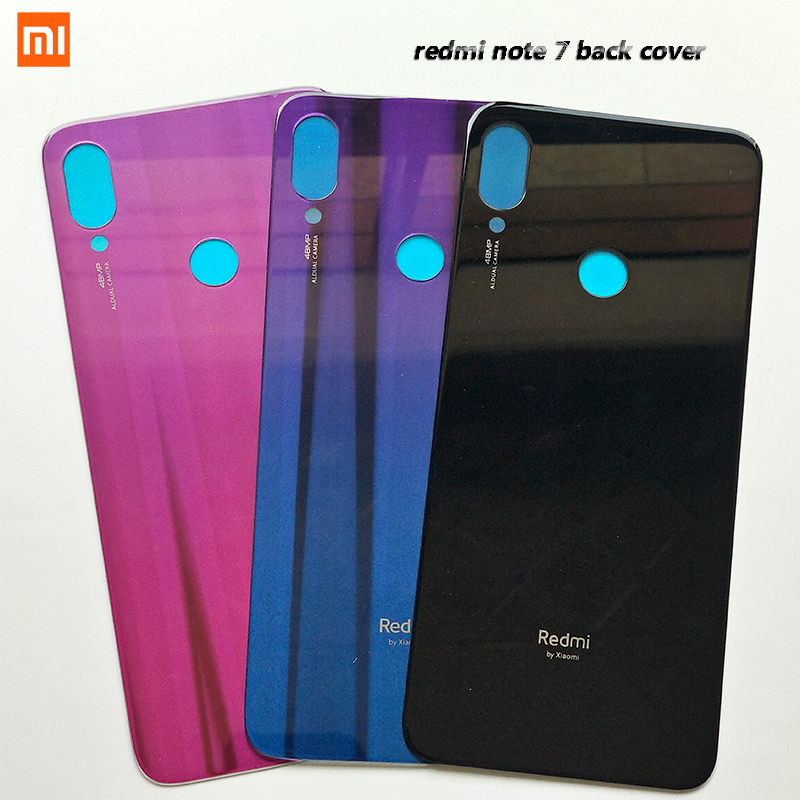 Xiaomi Housing-Case Mobile-Phone-Cover Logo Battery Note-7 Original for Redmi Note-7/replacement-Parts