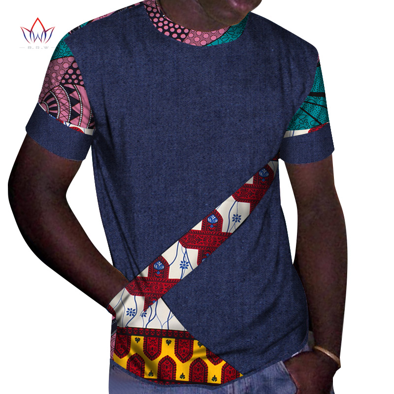 New dashiki <font><b>african</b></font> <font><b>men</b></font> clothes bazin short sleeve <font><b>wax</b></font> o-neck <font><b>african</b></font> top Plus Size print <font><b>african</b></font> <font><b>mens</b></font> <font><b>Shirts</b></font> clothing WYN976 image