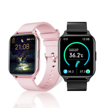 Smart Watch with temperature Heart Rate Blood Pressure music control DIY Dial wallpaper waterproof Alloy Smartwatch Android IOS