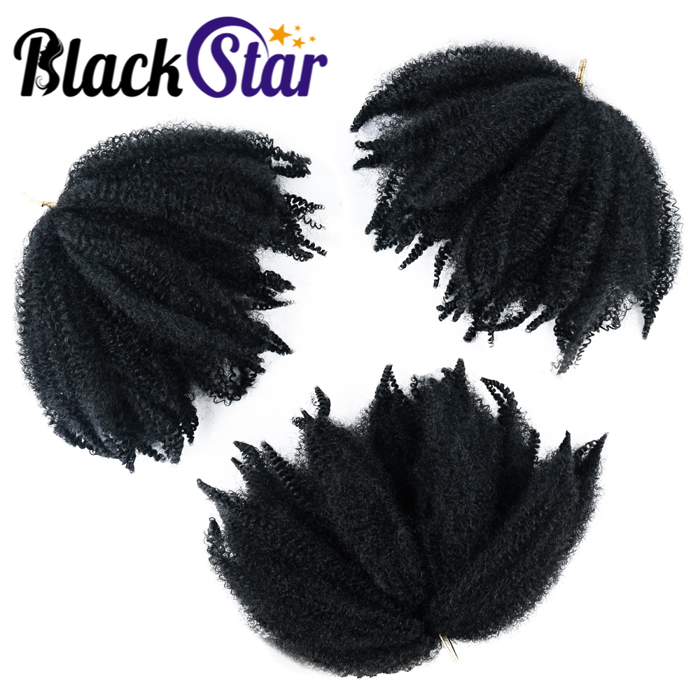 Marley Hair Afro Kinky Twist Crochet Marley Braiding Hair Marley Kinky Crochet braids 8'' Short Hair Synthetic Hair Extensions