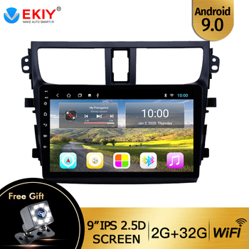 EKIY 9'' 2 Din No 2 Din Auto Car Radio for Suzuki Celerio / Alto 2015 2016 2017 2018 GPS Multimeida Video Player DVD IPS Wifi image