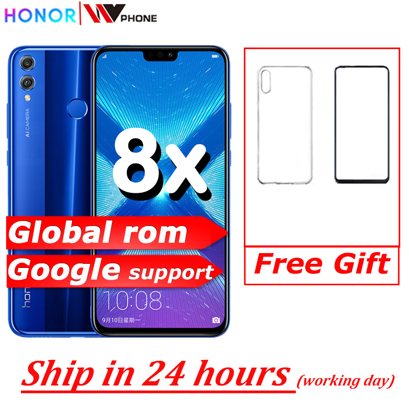 <font><b>Honor</b></font> <font><b>8X</b></font> smartphone mobile phone 6.5'' full Screen OTA update Smartphone Mobile phone Android 8.1 Octa Core fingerprint ID image