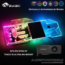 Bykski A-XF5700XTBW-X Vollständige Abdeckung GPU Wasser Block Für XFX RX 5700 XT THICC III ULTRA 8G BOOST Grafikkarte kühler Kühler
