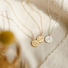 Lucktune 12 Constellations Pendant Necklace Zodiac Necklaces Libra Gemini Taurus Aries Scorpio Stainless Steel Fashion Jewelry