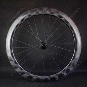 Image 4 - Pro luz x60mm rodas de carbono ciclismo ultra leve x 60 rodas ciclismo estrada jantes carbono novatec centro bloqueio para venda