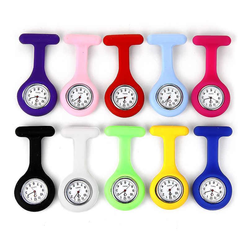 Relógio de bolso super prático enfermeira família bolso relógio conveniente para usar uma variedade de cores na superfície de quartzo pode escolher