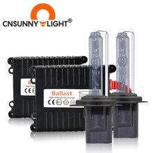 CNSUNNYLIGHT ksenonowe H7 H11 H8 AC zestaw HID 4300K 6000K 8000K H4 reflektor samochodowy W/stateczniki żarówki H1 9005 9006 880 H3 3000K światło przeciwmgielne
