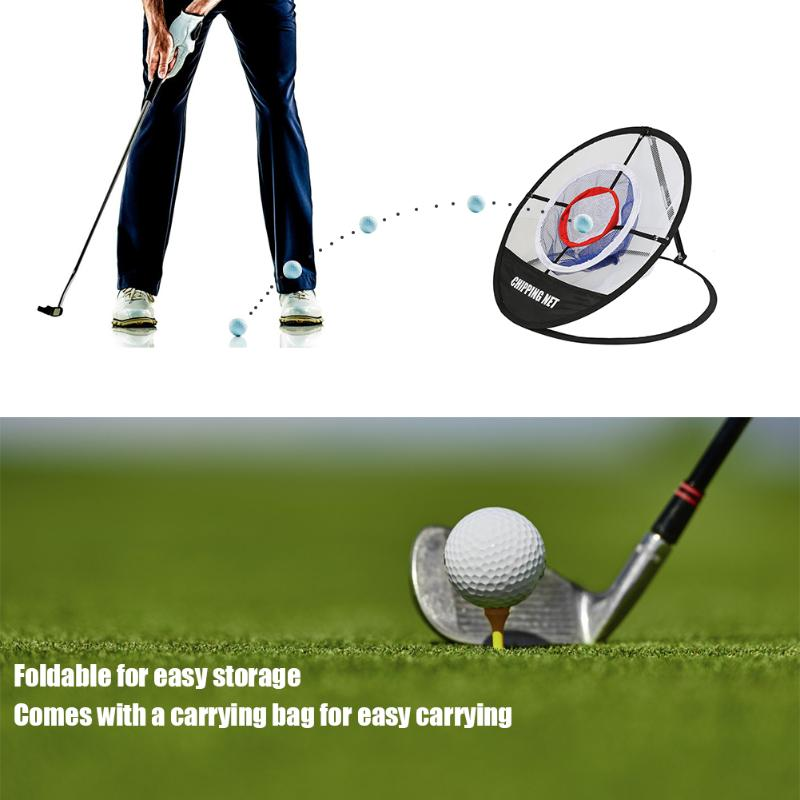 Golf Ball Chipping Pitching Cage Nets With Handbag Foldable Batting Practice Net Outdoor Golf Training Tool Accessories