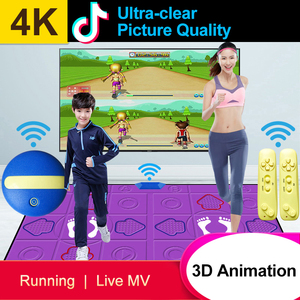 Image 2 - Wired Dancing Mat Pad Computer TV Slimming Dance Blanket with Two Somatosensory Gamepad a Colored Lights Version Pump It Up Game