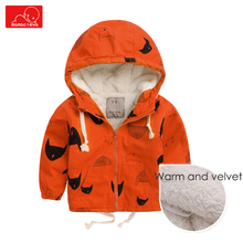 kids Autumn Winter Jackets baby boys zipper thick warm Windbreaker Trench coat children hooded coat spring Outerwear clothing weixu girls spring autumn trench jackets coats new children s zipper hooded long jacket coat kids windbreaker outerwear clothing