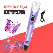 Модернизированная 3d ручка 4 го размера «сделай сам» 3 d светодиодные