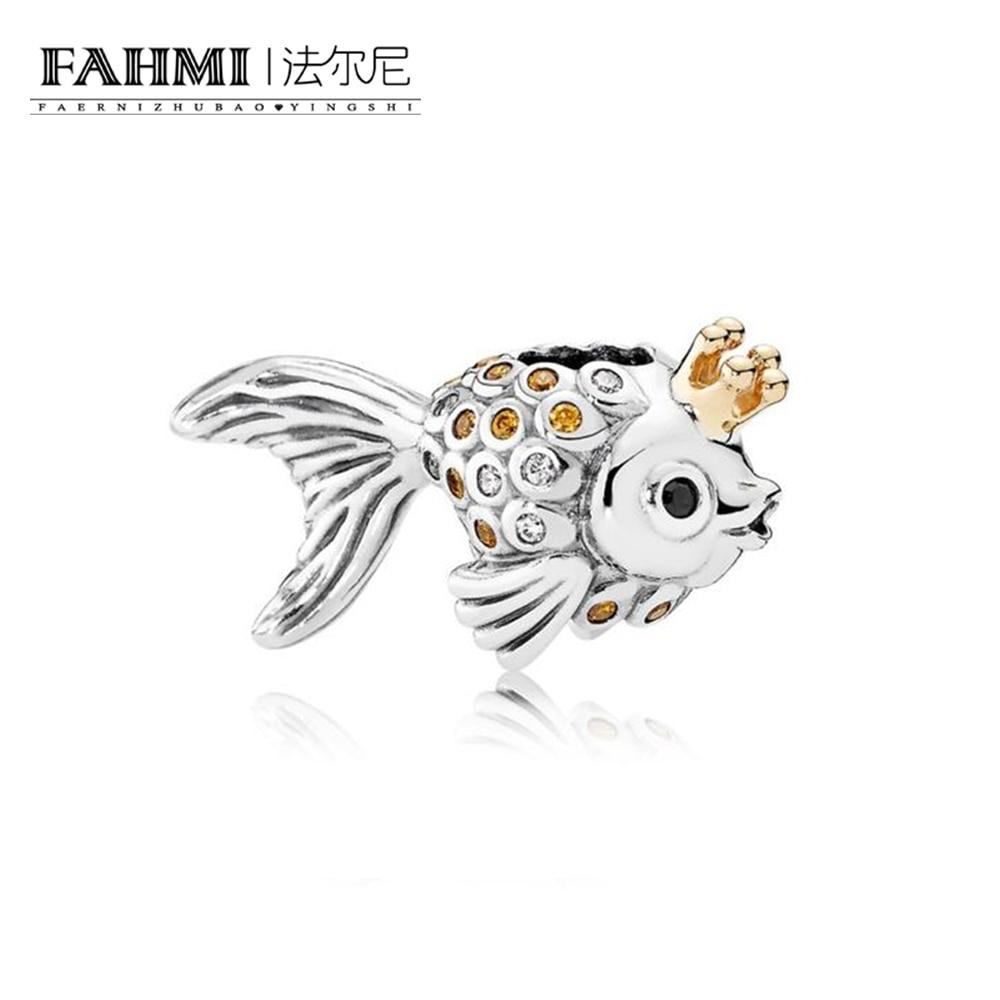 FAHMI 100% 925 Sterling Silver 1:1 Authentic 792014CCZ Fairytale Fish Charm  Bracelet  Original  Women  Jewelry