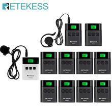 Беспроводная система туристического гида RETEKESS TT122, 1 передатчик + 10 приемников для церковной фабрики, тренировочный туристический гид, правительственная встреча
