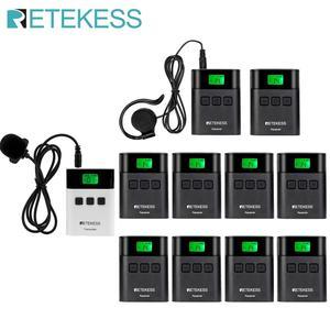 Image 1 - Беспроводная система туристического гида RETEKESS TT122, 1 передатчик + 10 приемников для церковной фабрики, тренировочный туристический гид, правительственная встреча