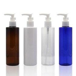 250ml Socket Pump Shampoo Lotion Press Bottle PET Plastic Sub-bottle Duckbill Bottle Travel Refillable Bottle  container
