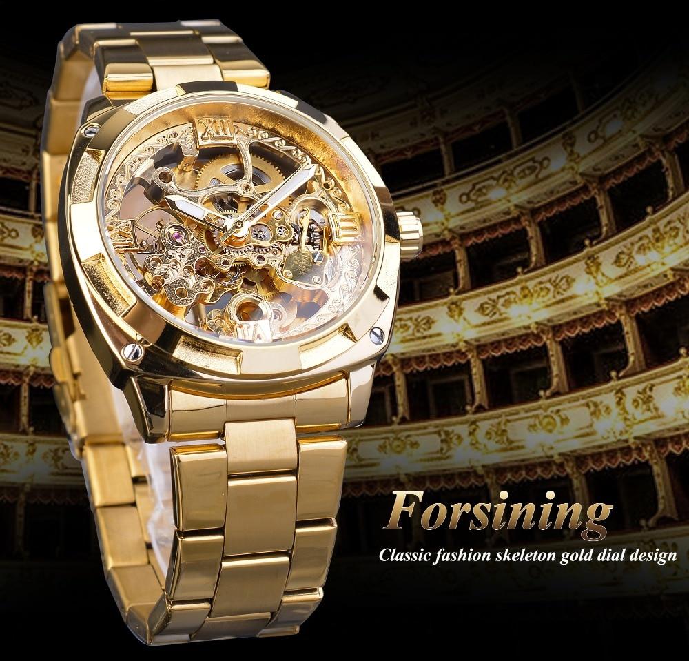 H10bfbf7bcfe04f9d899f1071375250f8l Forsining 2018 Fashion Retro Men's Automatic Mechanical Watch Top Brand Luxury Full Golden Design Luminous Hands Skeleton Clock