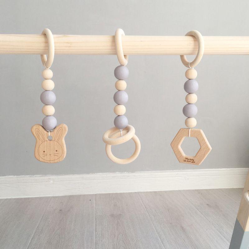 de madeira infantil bercario anel sensorial brinquedo puxar 05