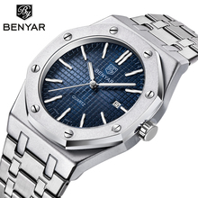 Relogio Masculino BENYAR Watch Men Stainless Steel Top Luxury Brand Qu