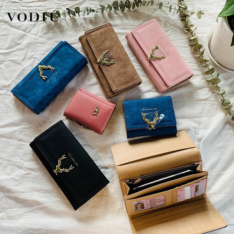 Women's Wallet Purse Fashion Brand Clutch Folding Clip Card Holder Thin Long Purse Slim Mini Wallet Women Leather Female Wallets