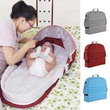 Portable Baby Bed Folding Baby Bed Nest Cot For Travel Foldable Bed Bag With Mosquito Net Infant Sleeping Basket With Toys baby portable baby bed anti tipi sleeping bag comfort station folding bed cabarets sleeping basket bed
