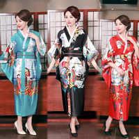 Kimono Traditional Femme Sexy Yukata Japan Ao Dai Dress Women Japanese Style Fashion Wedding Party Lady Samurai Cosplay Costumes