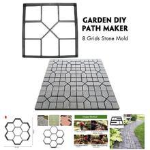 Горячая, садовый, сделай сам, пластиковая дорожка, модель тротуара, бетон, шаговый камень, цемент, плесень, кирпич, TY