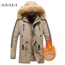 Winter Parkas Jacket Men -15 Degree Hooded Collar With Fur Windbreaker Winter Coat Mens Fleece Keep Warm Hommes Veste Jaqueta
