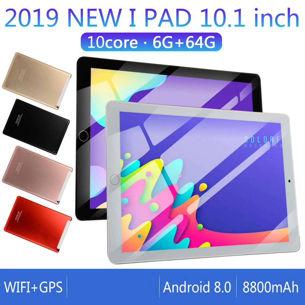 Ten Core 6G+16G/64G/128G Android 7.1 WiFi Tablet PC Dual SIM Dual Camera Rear 5.0MP IPS 4G Call Phone Tablet Gifts 2020