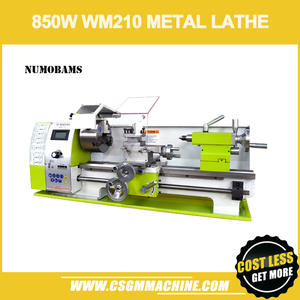 NUMOBAMS Lathe-Machine Bed Quenched Mt5-Spindle WM210V Metal Brushless-Motor with 850W