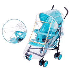 Baby Stroller Waterproof Cover Transparent Wind Dust Shield Zipper Open for Strollers Pushchairs Raincoat Accessor