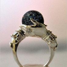 2021New moda damska ręka trzyma kryształowe pierścionki szczęśliwe koraliki obrączka pierścień przyrzeczenia dla kobiet damska biżuteria akcesoria tanie tanio CN (pochodzenie) STAINLESS STEEL Kobiety Sztuczne korale Biuro Praca Pierścień pokazowy Piłka 6 5mm Zgodna ze wszystkimi