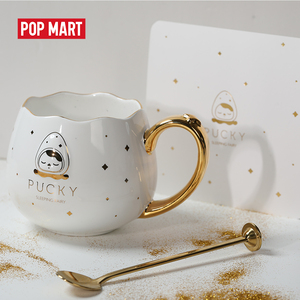 POPMART Pucky ceramic cup of sleeping babies as beautiful gift free shipping(China)
