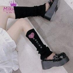 So-51 Noir Boucle Bandage Lolita Chaussettes Jambières Chaussettes Harajuku gothik
