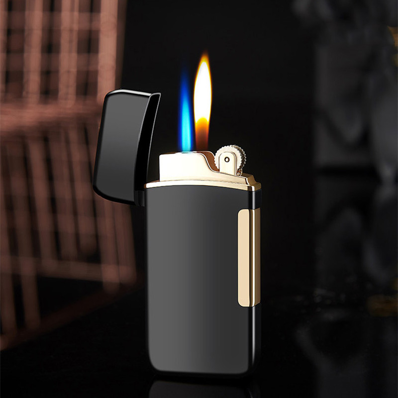 Купить газовая зажигалка с двумя пламенями шлифовальный фонарь турбо