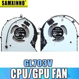 Nowy dla For Asus GL703 ROG STRIX GL703V GL703VD GL703VM wentylator procesora DC 4PIN 12V 0.4A cpu + GPU