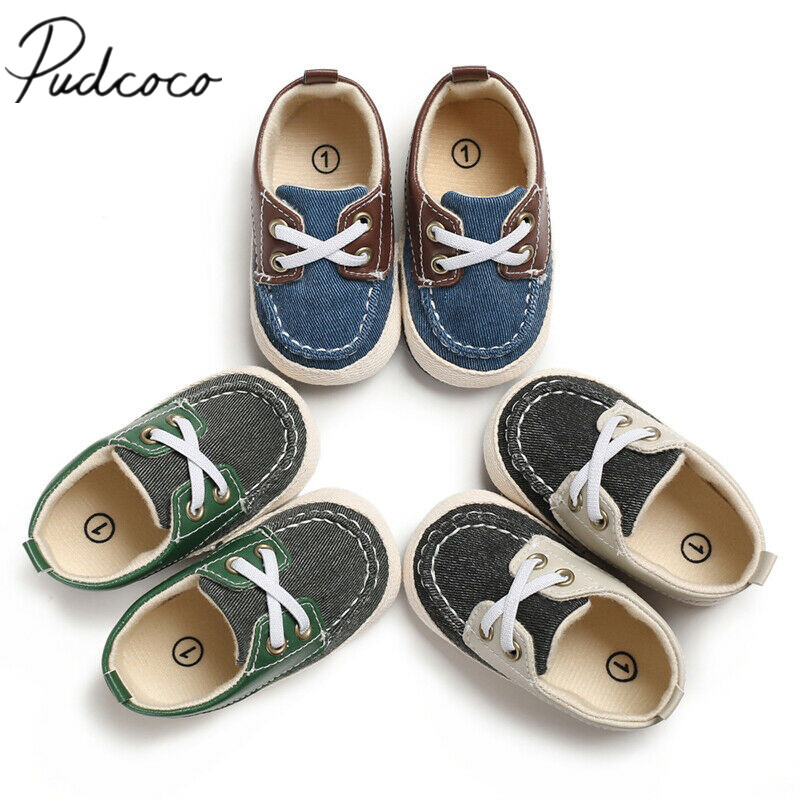 Pudcoco New First Walkers Infant Newborn Baby Boy Girl Soft Sole Cotton Anti-slip Shoes Sneaker Prewalker Patchwork Shoes 0-18M