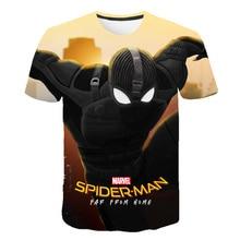 BIAOLUN Spiderman Boys T Shirt Kids Tshirt Super Hero T-Shirts for Girls Child T-Shirts Children Clothing Tee Shirt camiseta все цены