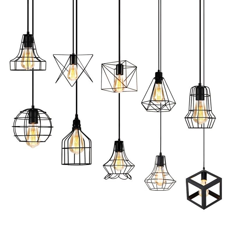 Luce del pendente del LED Retro Ristorante Lampada A Sospensione Industriale vento Loft Apparecchi di Illuminazione Per La Cucina Bar Arte del Ferro Luci E27