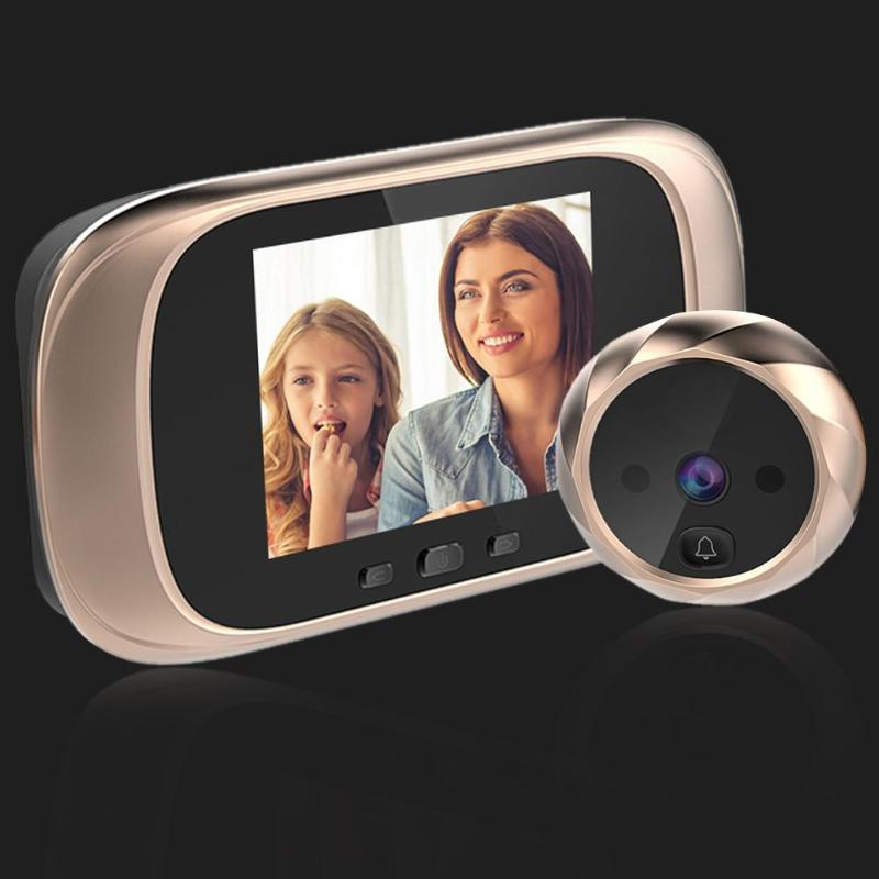 DD1 Infrared Motion Sensor Doorbell 90 Degrees Wide Angle View Camera Door Bell Equipped With 2.8 Inch Tft Lcd Can Take Pictures