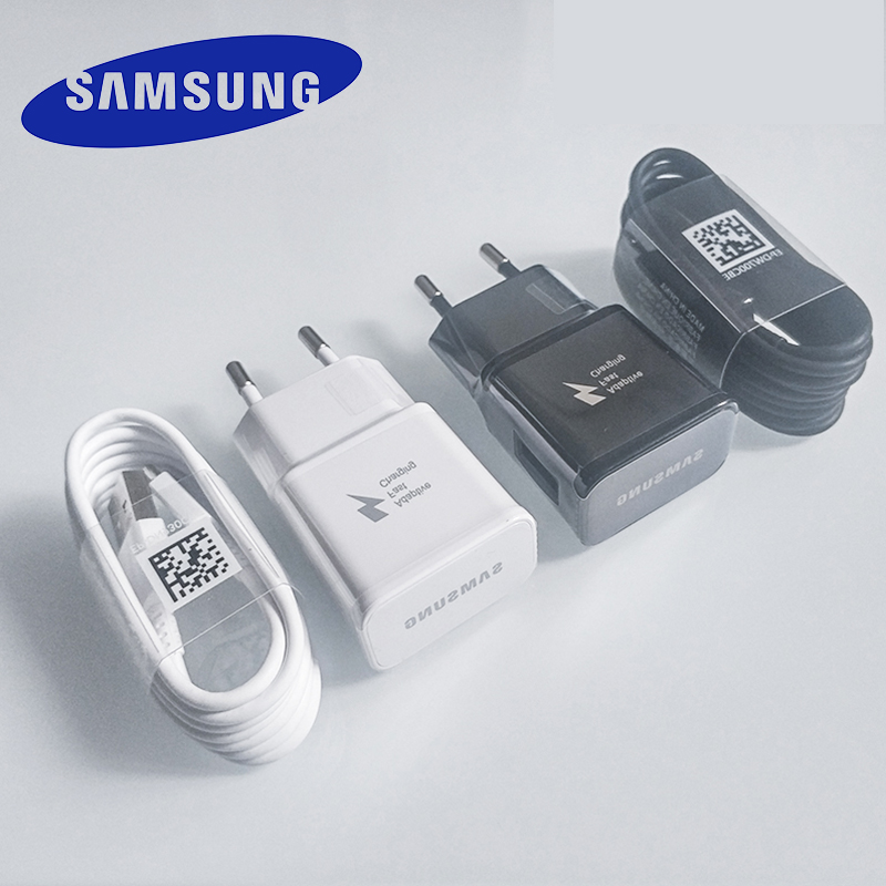 Samsung S10 S8 S9 Plus Fast Charger Power Adapter 9V 1.67A Quick Charge Type C Cable for Galaxy A30 A40 A50 A70 A60 note 10 8 9(China)